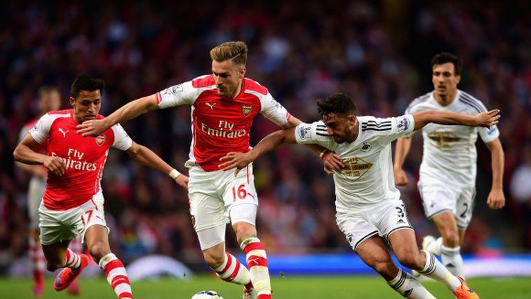 Арсенал загуби важни точки в борбата за второто място
