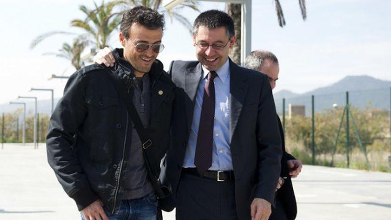 Луис Енрике остава, босът на Барса обеща да реши проблемите му