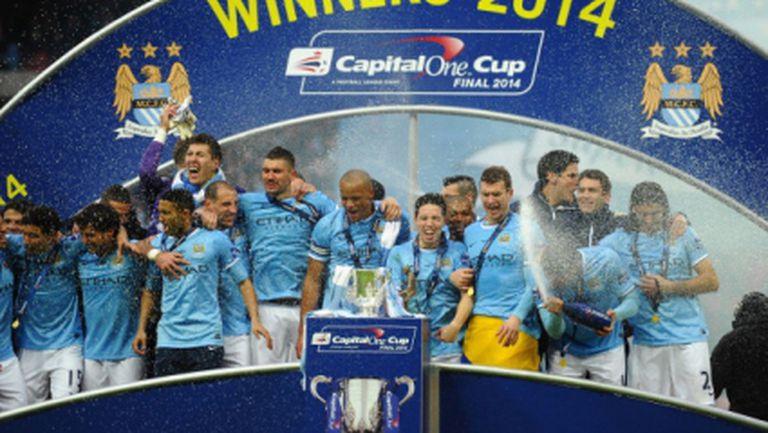 Ман Сити обърна Съндърланд и спечели Купата на Лигата (видео)