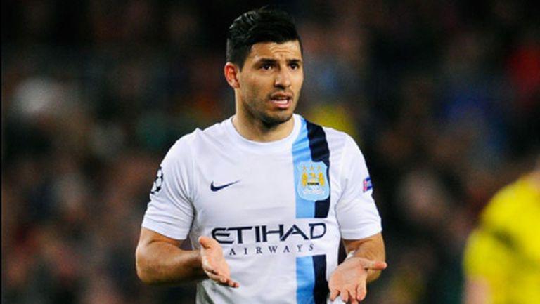 Манчестър Сити без Агуеро срещу Ман Юнайтед и Арсенал?