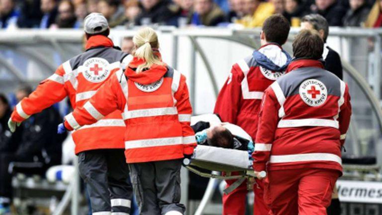 Тежък инцидент на мача на Майнц 05 (видео)