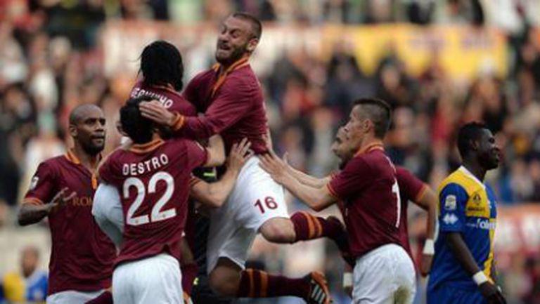 Рома съкрати преднината на Юве след голово шоу с Парма (видео)