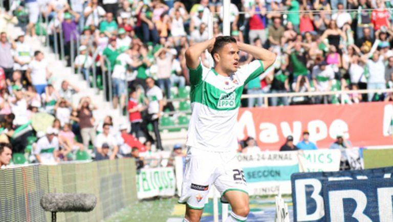 Елче се домогна до победата, Гари Родригес едва не прехвърли стадиона
