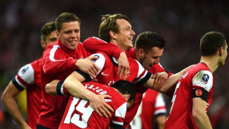 Арсенал се промъкна до финала за ФА Къп след драма с дузпи, надеждата за трофей остава жива (видео)