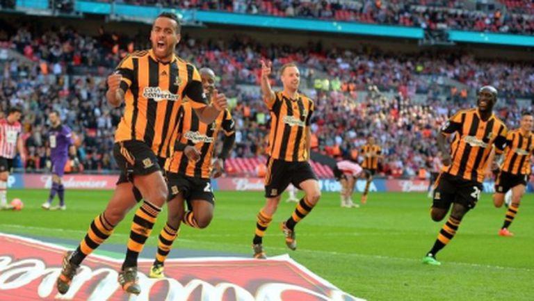"""Хъл Сити е на финал срещу Арсенал след голов спектакъл на """"Уембли"""""""