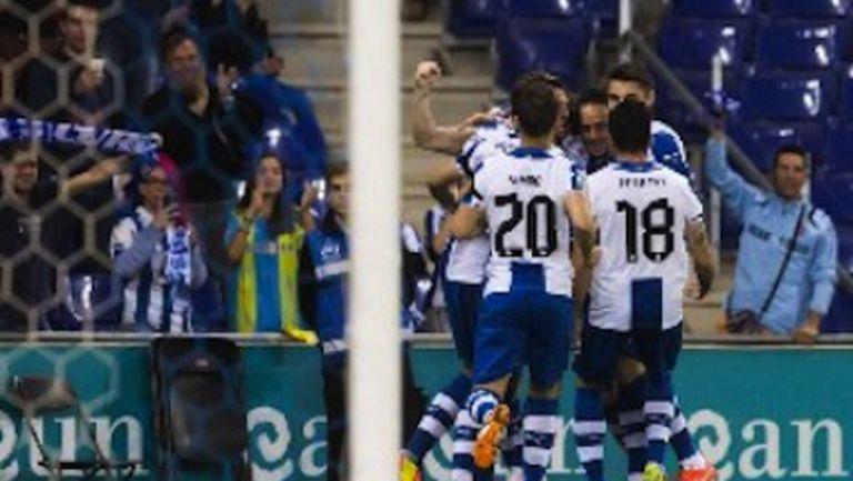 Късен гол спаси Еспаньол от домакинско поражение срещу Райо (видео)