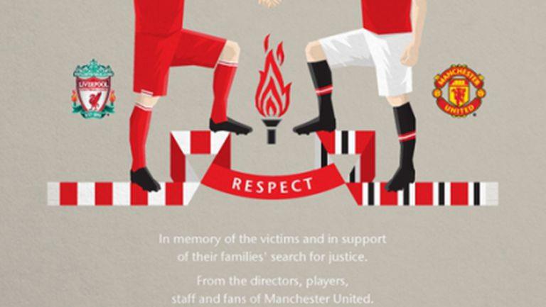 """Манчестър Юнайтед ръка за ръка с Ливърпул в памет на жертвите от """"Хилзбъроу"""""""