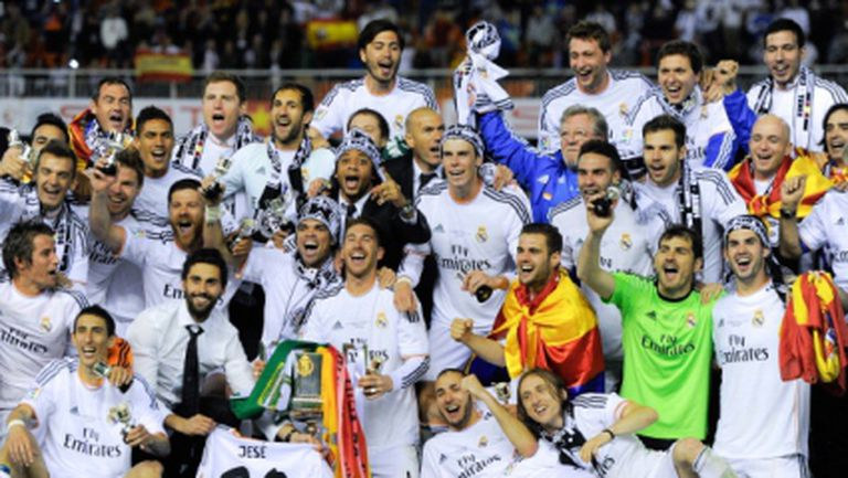 Реал Мадрид ликува с Купата на краля, Барса пак страда (видео+галерия)