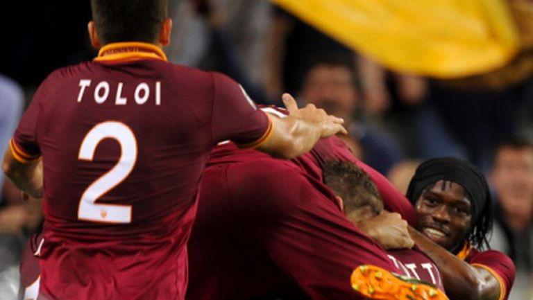 Рома спря полета на Милан и поддържа напрежението върху Юве (видео+галерия)