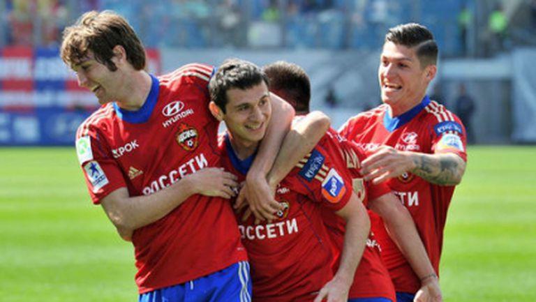 Седма поредна победа за ЦСКА (Москва), гонитбата за титлата продължава (видео+галерия)