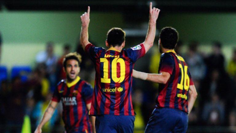 Меси вече пети пореден сезон бележи поне по 40 гола за Барселона