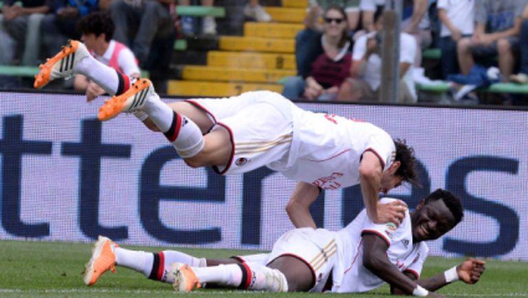 Шедьовър в 96-ата минута изхвърли Милан от Европа (видео+галерия)