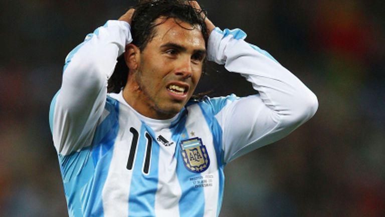 Аржентина без Тевес на световното