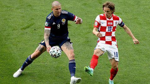 С висока класа Хърватия прескочи групата след 3:1 над Шотландия