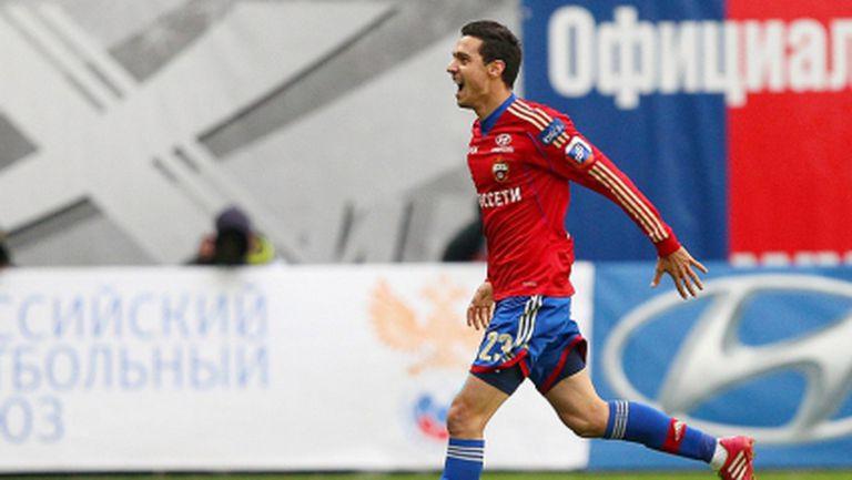 Георги Миланов се разписа от дузпа за ЦСКА (Москва)