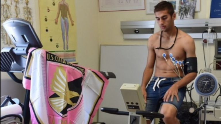"""Първите думи на Чочев като играч от Серия """"А"""": Палермо е правилното място за мен (снимки)"""