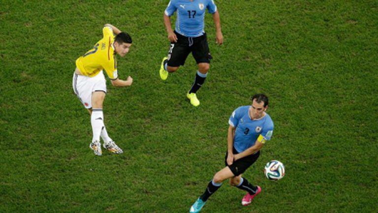 Шедьовърът на Хамес срещу Уругвай бе избран за Гол №1 на Мондиал 2014 (видео)