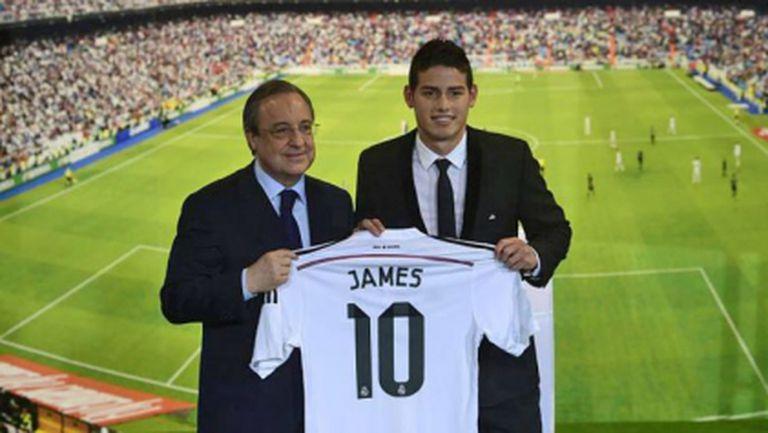 Представиха Хамес Родригес като играч на Реал (видео + галерия)