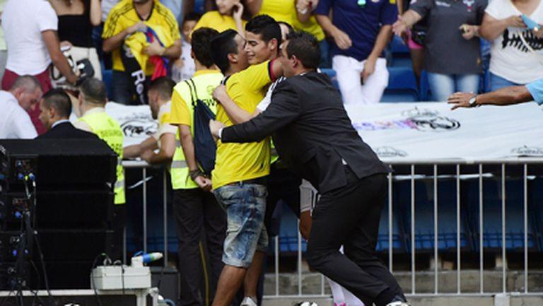 ВИДЕО: Вижте как Хамес спечели сърцата на феновете на Реал