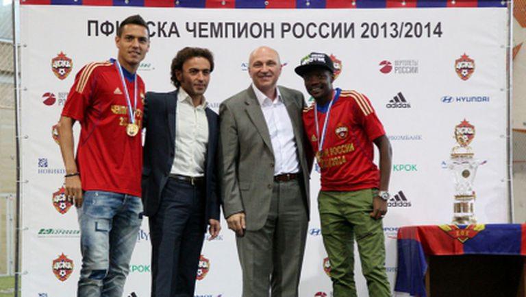 ВИДЕО: Георги Миланов получи златния си медал за титлата с ЦСКА
