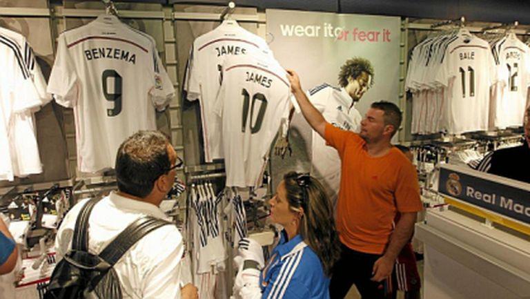 Само за денонощие: Реал Мадрид продаде 50 000 фланелки на Хамес