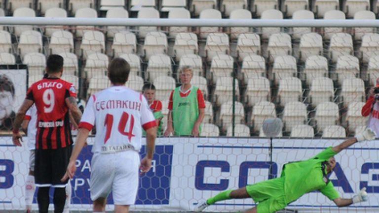 Избягал от ЦСКА с исторически гол в Русия, Пеев псува феновете (видео)