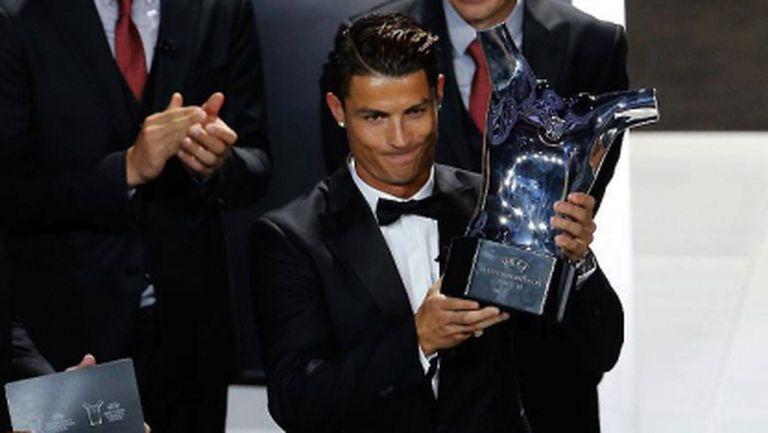 Най-добър играч на Европа за изминалия сезон е Кристиано Роналдо