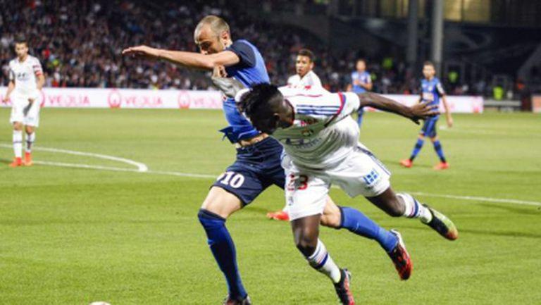 Куп пропуски и провал за Монако и Бербатов срещу Лион (видео)