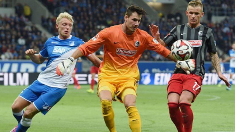 Хофе и Фрайбург направиха мача на вечерта в Бундеслигата (видео)