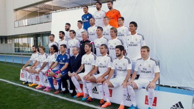 Реал Мадрид направи снимки за официалния си календар (галерия)
