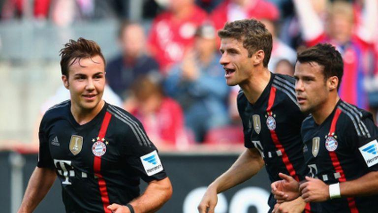 Байерн с два пъти повече точки от Дортмунд след нова победа