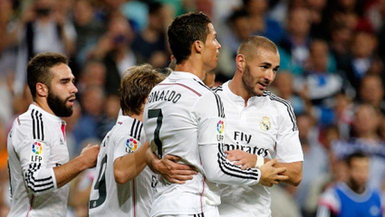 Кристиано, Марсело и Хамес танцуват след гол на CR7 (видео)