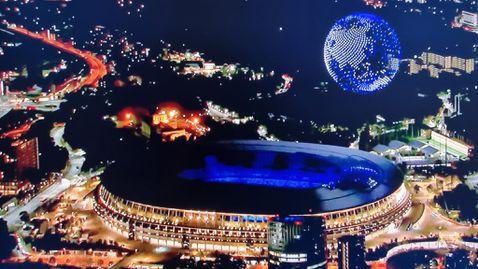 1824 дрона направиха бляскаво шоу на откриването на Токио 2020