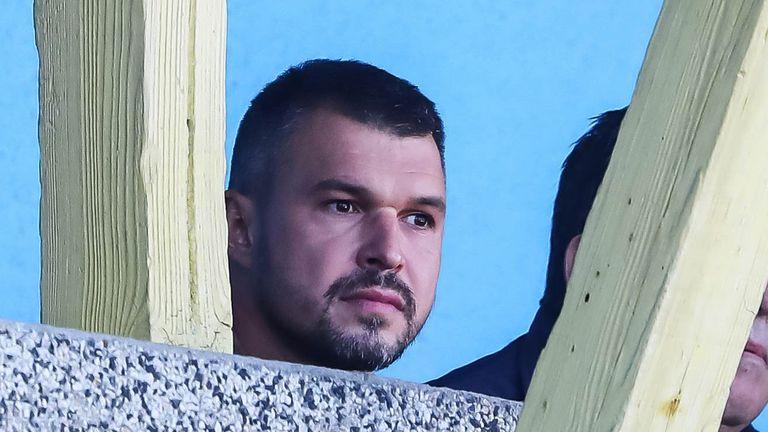 Валери Божинов, Гонзо и Александър Димитров гледат мача Марица - Славия в Пловдив