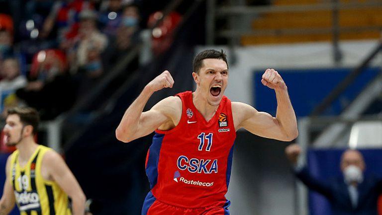 ЦСКА Москва е на крачка на последните четири