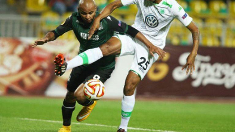 Волфсбург громи в Краснодар за първа победа в групите на Лига Европа (видео)