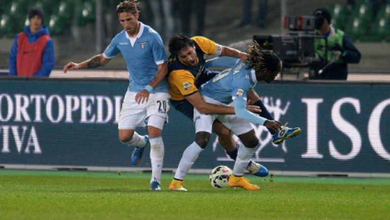 Лацио пропусна да се утвърди на третото място (видео)