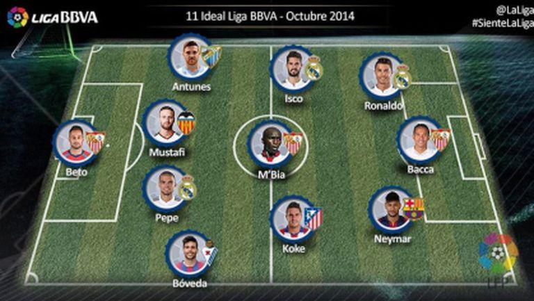 Реал Мадрид и Севиля оформиха Идеалния отбор за октомври