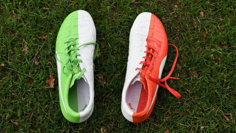 Балотели с новите обувки срещу Хърватия (снимки)