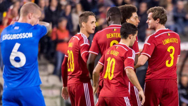 Белгия не се затрудни с Исландия (видео)