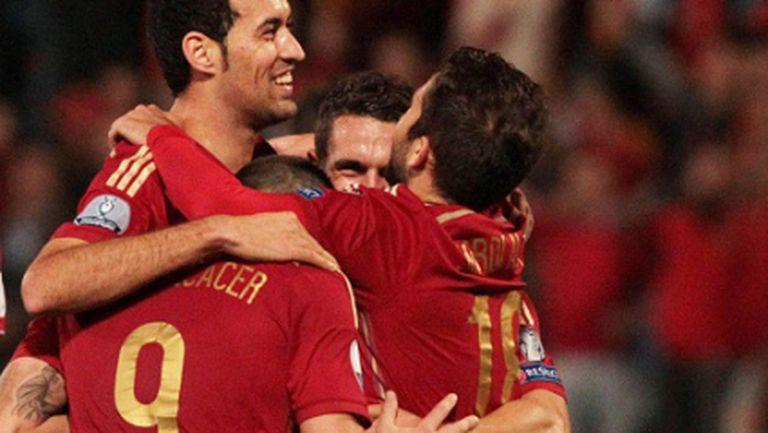 Испания вкара само три на Беларус (видео)