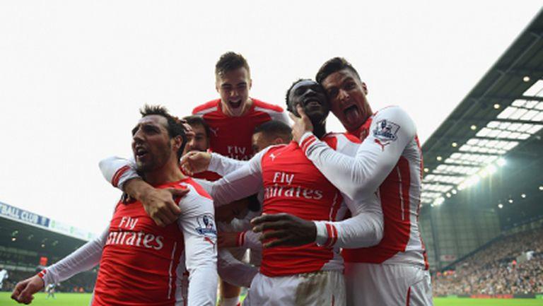 Арсенал в топ 4 за няколко часа (видео)