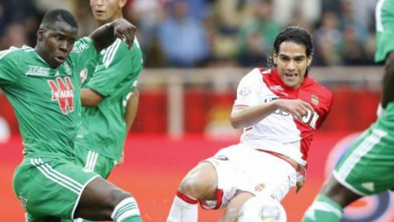 Монако удари Сент Етиен с късен гол