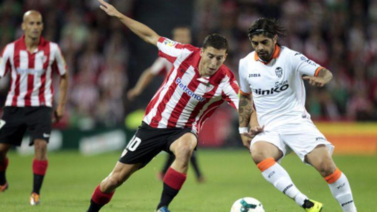 Атлетик (Билбао) загуби точки и срещу Валенсия (видео)