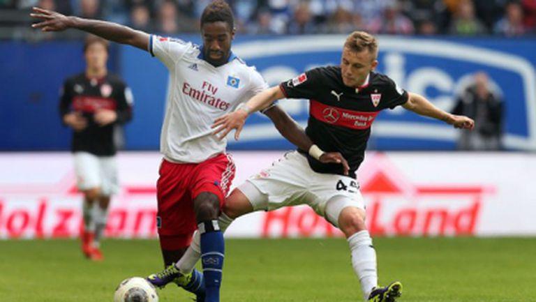 Хамбургер ШФ и Щутгарт направиха мача на кръга в Германия (видео)