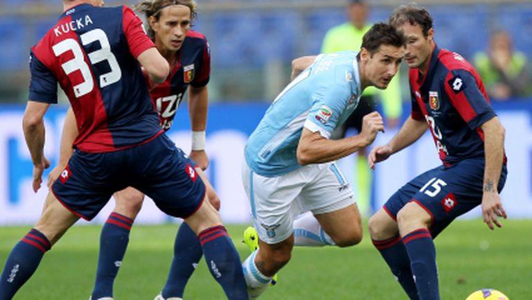 Късметът обърна гръб на Лацио срещу кошмарния му Дженоа (видео)