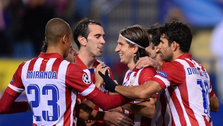 Четири гола, рекорд и безпроблемно класиране за Атлетико (видео)