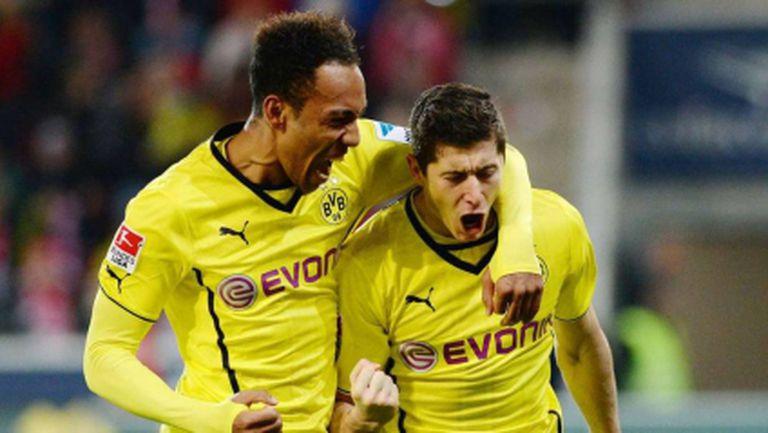 ЛеванГОЛски осигури три точки за Дортмунд в Майнц (видео)