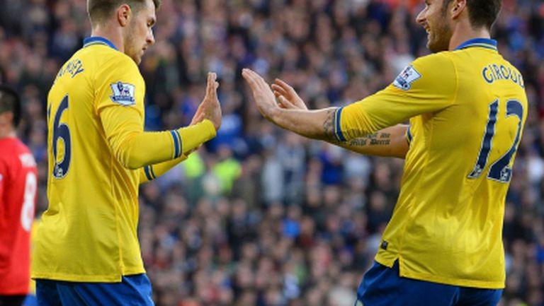 Арсенал дръпна на върха след класика, феновете на домакините аплодират