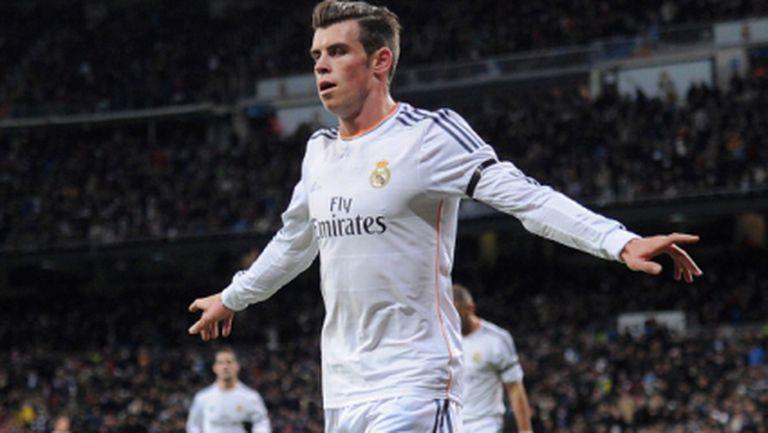 Реал Мадрид се позабавлява на ходом, Бейл иззе ролята на голмайстор (видео)